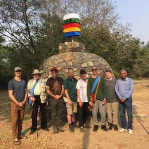 First Visitor to Guru Stupa
