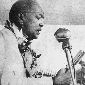Dr Ambedkar at his conversion to Buddhism